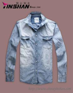 Men′s Cotton Shirt / Jeans Shirt
