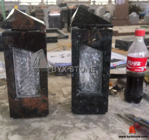 Natural Granite Funeral Candle Stone Square Lantern for Cemetery Monument pictures & photos