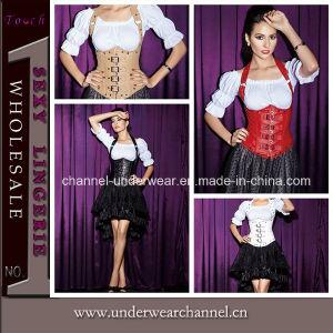 Sexy Women Underbust Leather Corset (TWK1402) pictures & photos
