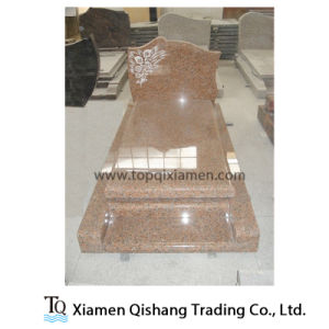 Low Price Maple Red Granite Single Monument for France Market