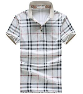 Men′s Newest Mercerized Cotton Check Polo T-Shirt pictures & photos