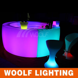 RGB Color Plastic Glow Furniture with LED Lighting pictures & photos