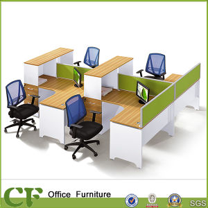 4 Person Customize Welcome Office Modular Workstation (CF-P10307) pictures & photos