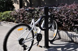 2015 Hot Sold Outdoor Bllard Type Bike Rack pictures & photos
