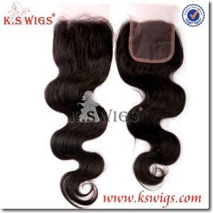 Brazilian Remy Hair Lace Closure Virgin Human Hair pictures & photos