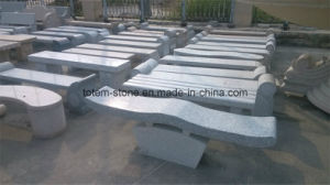 Natural Polished Grey/Yellow Granite Stone Park Bench for Garden/Park pictures & photos