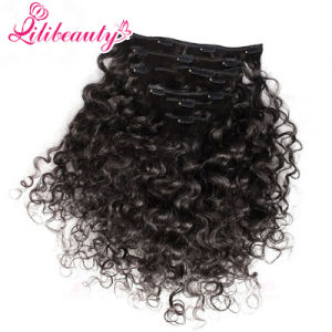 Best Clip in Hair Extensions Hot Sale Indian Remy Hair Black Hair Extensions pictures & photos