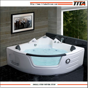 Modern Design Corner Hydromassage Bathtub Tmb050 pictures & photos