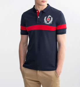 Custom Design Embroidery Fashion Cottom Men Polo T Shirt