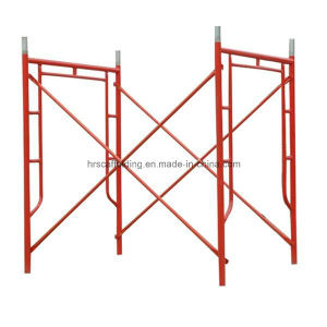 Powder Coated Painted Walk Through Frame H Scaffolding pictures & photos