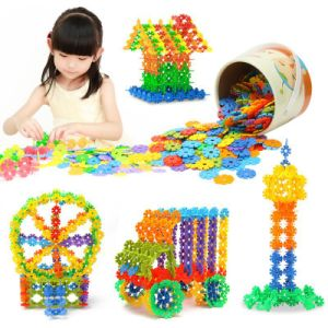 100 PCS Plastic Snowflake Building Blocks Puzzle Educational Toy pictures & photos