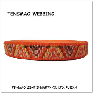 "1.25"" Orange Jacquard PP Webbing for Shoes pictures & photos"