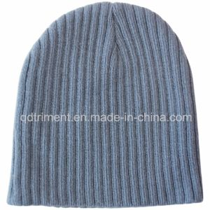 Popular Stretchable Knit Style 100% Acrylic Warm Beanie (TMK0273-1) pictures & photos
