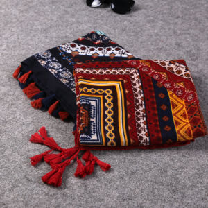 National Style Colorful Printing Oversize Pashmina Cotton Polyester Poncho Shawl Scarf pictures & photos