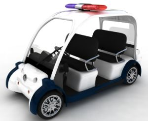Police Patrol Car 4 Seater Electric Sightseeing Car with CE Certificate for Sale pictures & photos