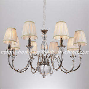 Atique Iron Chandelier Lamp with Fabric Shade (SL2068-8) pictures & photos