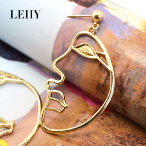 Personalized Portrait Shape Gold/Silver-Plated Drop Earrings New Fashion Design Jewelry pictures & photos