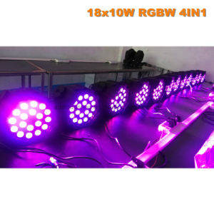 18X10W 4in1 RGBW LED PAR64  Light pictures & photos