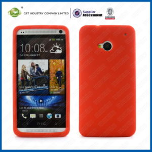 Red Soft Silicone Case for HTC One M7 pictures & photos