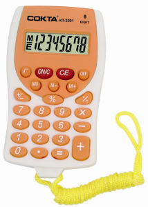 Fashion Colorful Calculator with Rope, Promotional Calculator, Gift Calculator, Pocket Size Calculator (KT-2201)