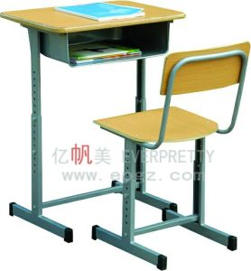 2015 Guangzhou Classroom Furniture Adjustable Desk and Chair (SF-08A) pictures & photos