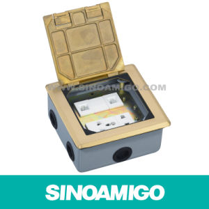 Cover Opening Hinged Floor Outlet Boxes with CAT6 (SOP-120B) pictures & photos