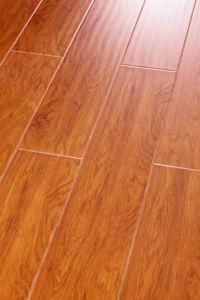 12mm Handscraped Laminate Flooring U Groove pictures & photos