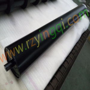 Conveyor Impact Roller with Moulded Cooked or Rubber Disc Guide Side Roller Idler Roll Rubber Rings Weigh HDPE Poly Idler Roll Roller for Mine Transportation