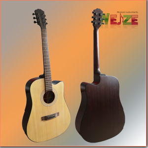 41inch Spruce Sapele Folk Guitar pictures & photos