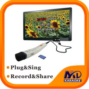 Recordable Karaoke Microphone Built in English Tagalog Songs