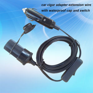 12V 24V Car Cigarette Lighter Power Socket with Extension Cable and Waterproof Cap pictures & photos