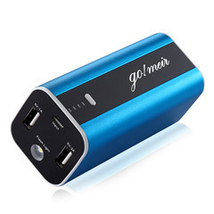 Gomeir Portable 12000mAh Power Bank with Dual USB Port