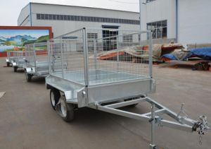 6X4ft Wire Mesh Cage Tipping Trailer pictures & photos