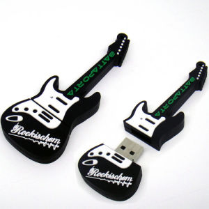Hotsales PVC Material Guitar USB Flash Drive