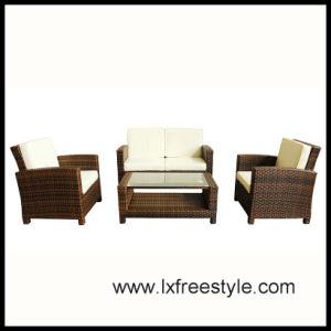 UV Resistand Wicker Sofa Set / SGS Wicker Furniture (SF-012)