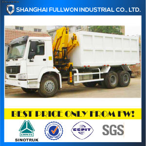 Sinotruk 6X4 HOWO Tipper with Crane pictures & photos