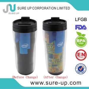 Pretty Hot Sale Double Layer Plastic Juice Cup (MPUU) pictures & photos