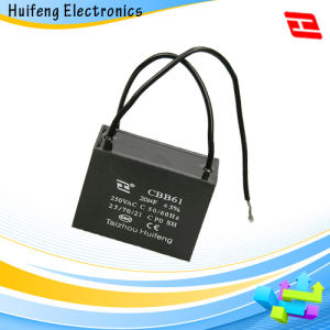Hf Cbb61 Fan Capacitor with Pin Series pictures & photos