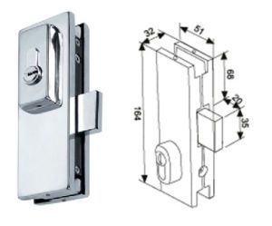 Stainless Steel Patch Fitting Lock (PT-019) in High Quality pictures & photos