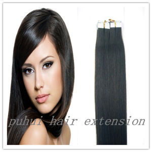 PU Skin Weft Hair Extension/ Remy Tape Human Hair Extensions (P-007)