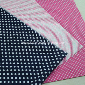 Cotton Plain Fabric for Apparels with DOT Printed (30X30/68X68)