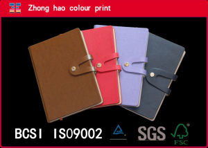A5 Diary/High Quality PU Leather Notebook with Button (150531007)