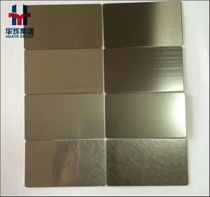 AISI 201 430 304 316 Stainless Steel Sheet Hairline Brass Color Decorative Sheet 4X8 Size Price pictures & photos
