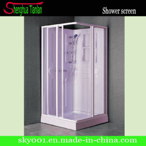 Low Tray Rectangle Pale Red Glass Shower Enclosure (TL-8833) pictures & photos