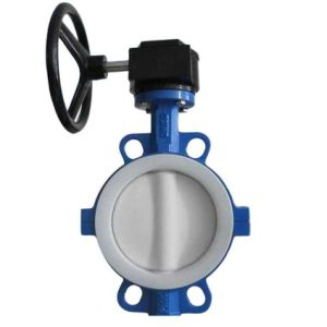Butterfly Valve PTFE Lining Wafer Type pictures & photos