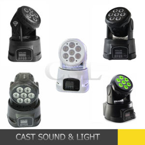 7PCS RGBW Mini LED Wash Moving Head DJ Light pictures & photos