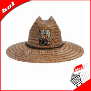 Printed Hollow Straw Hat Natural Straw Hat pictures & photos