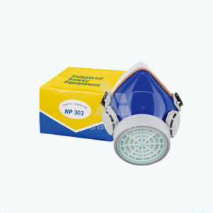 Lead Half Face Safety Approved Gas Respirator Mask with Single Cartridge Respirator HEPA Filter for Chemicals pictures & photos