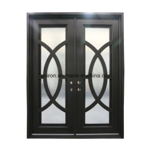 Custom Front Door with Iron and Glass pictures & photos