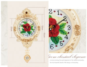 European Creative Wall Clocks Hot Sale Luxury Diamond Clock Wall Clock for Home Wall Decor (AS004) pictures & photos